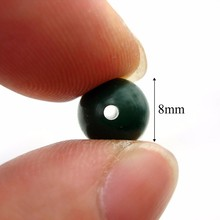50pcs Carp Fishing Rubber Shock Beads 8mm Terminal End Tackle Stop New