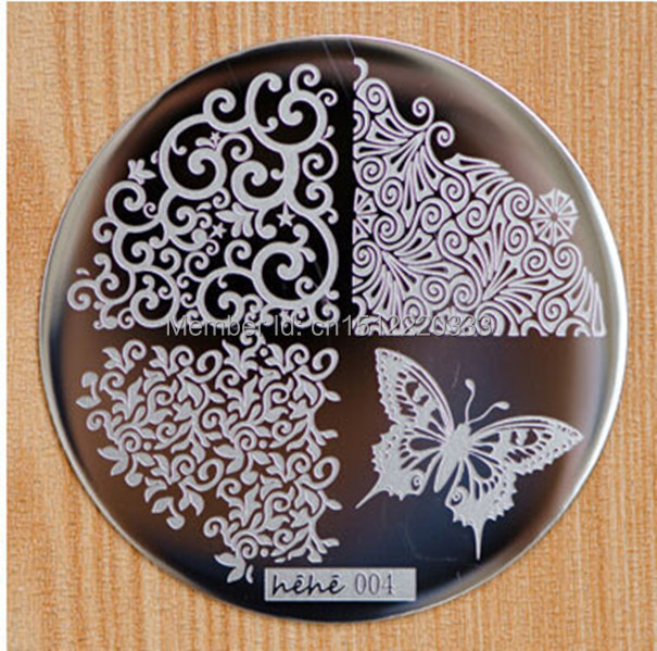 1pc Cut Butterfly Design Nail Art Stamp Template Hehe 004 Free ...