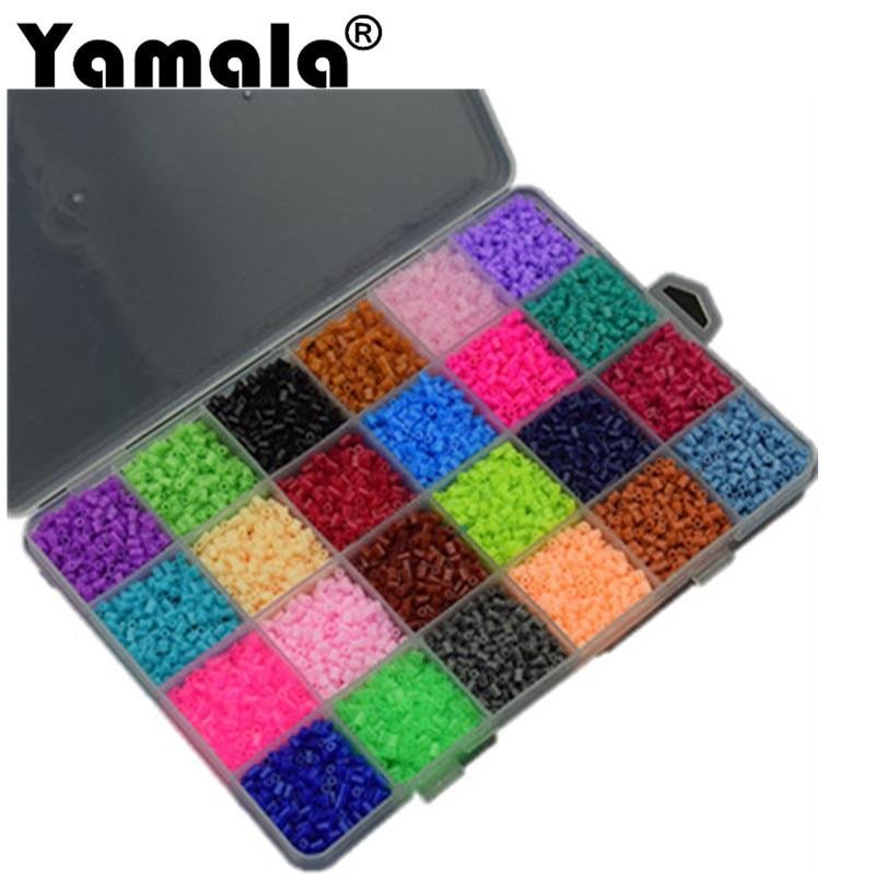 [Yamala] 13000Pcs 24 Color Hama Beads 2.6MM Perler Beads DIY Creative Puzzles Tangram Jigsaw Board Educational Toys Gifts цены онлайн