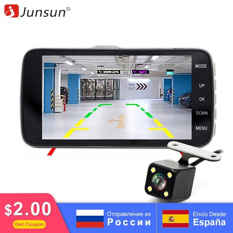 Junsun видеорегистратор для машины ADAS авторегистратор двойной записи IPS 4 дюймовый Full HD ночного видения 1080P купить на AliExpress