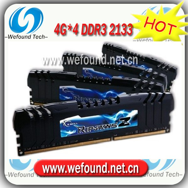 Hot sell! Brand new for G.SKILL DDR3 2133 4G*4 ram for desktop computer overclocking F3-17000CL9Q-16GBZH