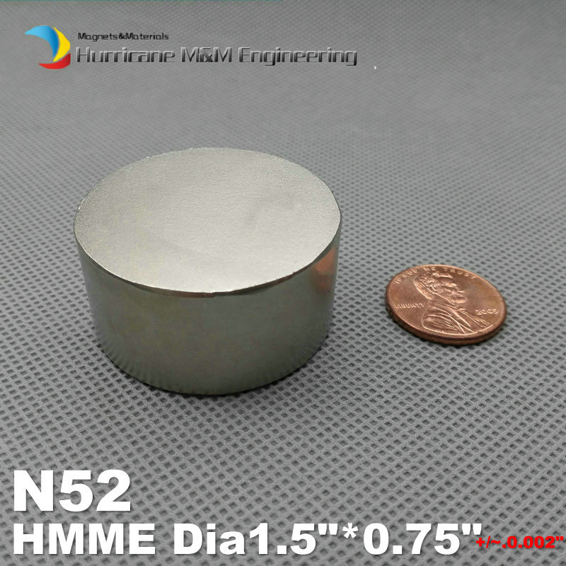 NdFeB N52 Disc Magnet 1.5 dia.x0.75 thick Strong Neodymium Permanent Magnets Rare Earth Filter Magnets free shipping neodymium disc magnet 10pcs 25x3mm with hole 13mm n50 rare earth permanent strong ndfeb magnets