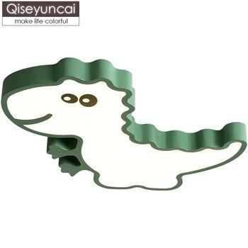 Qiseyuncai Скандинавский современный минималистичный мультяшный Динозавр Детская Спальня светодиодный потолочный светильник для мальчиков и ...