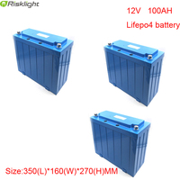 3pcs/lot 12 volt Litium Ion Battery 12v 100ah Lifepo4 Battery Pack For Robots,EV,Solar System