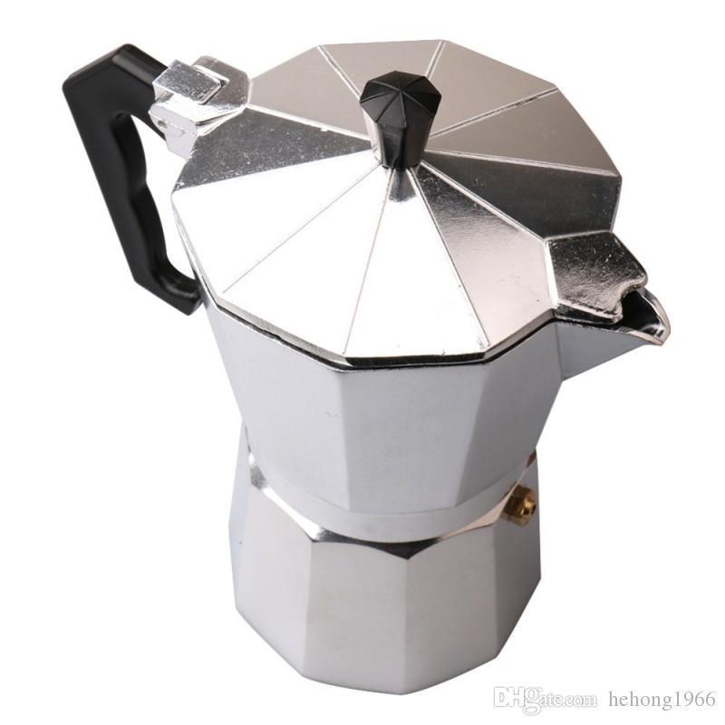 GFHGSD Coffee Pot Aluminum Dripolator European Coffee Kettle Turkey Octagonal Pots Delicate Tool Kitchenware Moka Pot Mocha in Coffee Pots from Home Garden