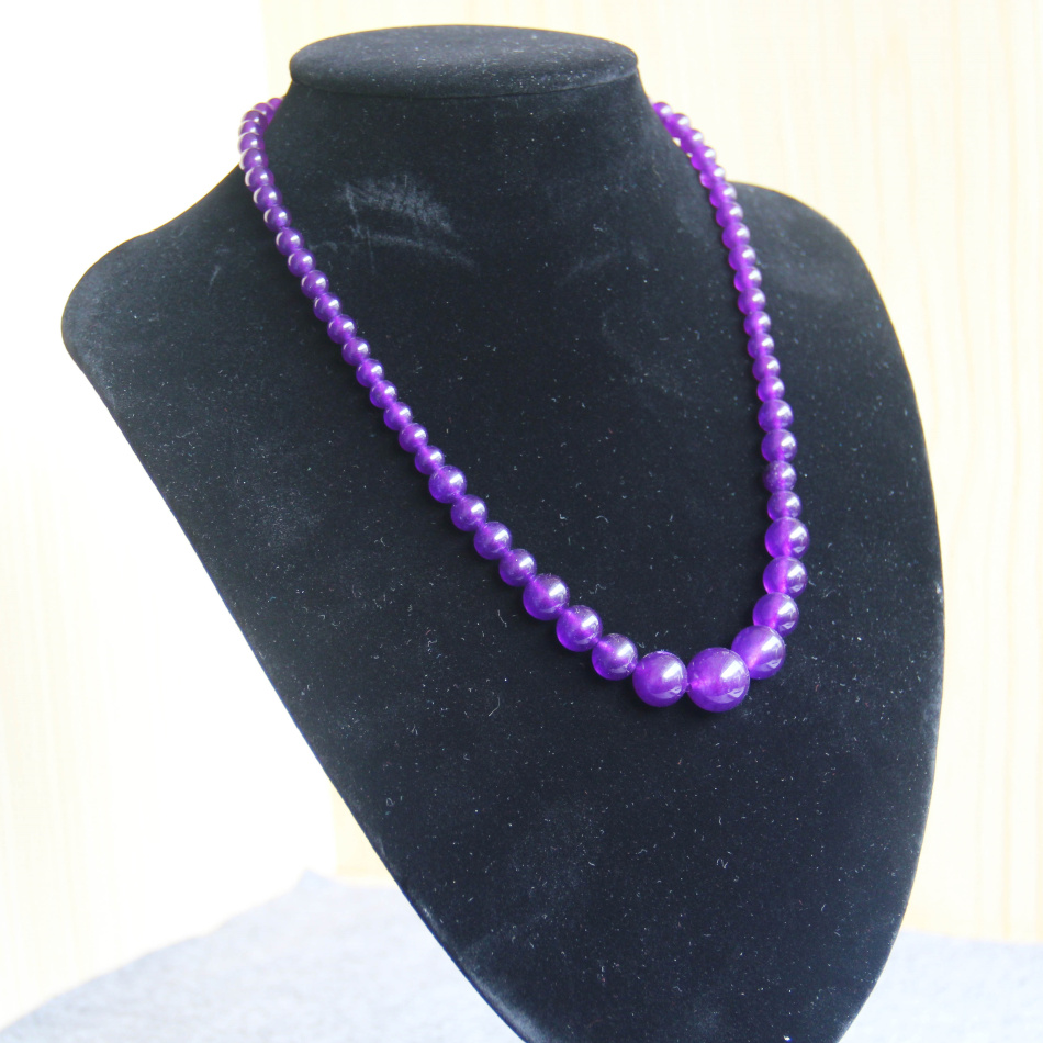 New 6-14mm Natural Purple Alexandrite Necklace Gift For Women Girls Beads Stone 18inch Fashion Jewelry Making Design Wholesale