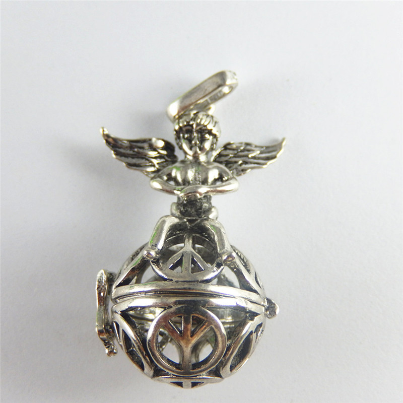 2pcs Personal Antique Silver Lovely Cupid box Jewelry Pendants Charms Finding Jewelry Making Key Chain Accessaries