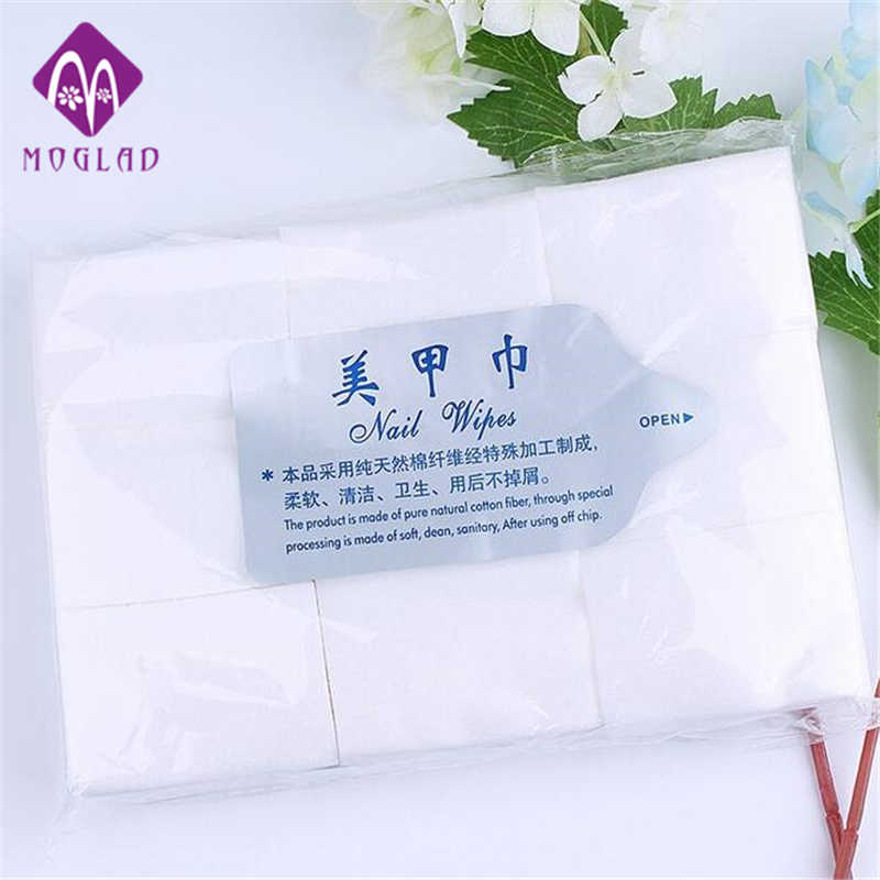 Moglad 900PCS Nail Polish Removal Wraps Nail Clean Cotto Lint Pads Paper (6*4*0.1cm/piece) Nail Manicure Clean Wipes Art Tips