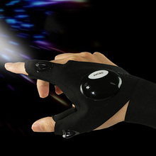 1Pcs LED Fingerless Glove Fishing Magic Strap Luminous Gloves Outdoor Camping Hiking Car Repair Party Lights