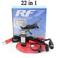 22in1 の rc usb フライトシミュレータケーブルアップグレードで 22 1 シミュレータサポート realflight G7 フェニックス 5.0 aerofly fms シリーズ