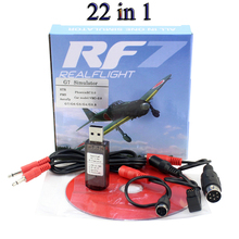 22in1 RC USB Flight Simulator Cable Upgraded 22 in 1 Simulator Support Realflight G7 Phoenix 5.0 AEROFLY FMS Series