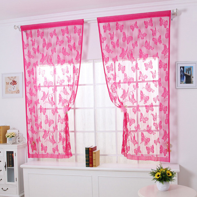 Luxurious Butterfly Sheer Curtains fit Children Bedroom Living Room ...