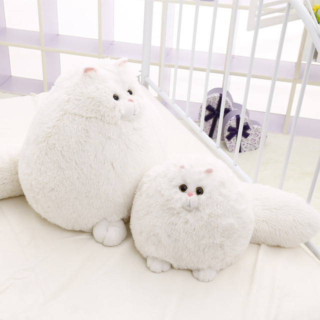 Lovely Stuffed Fluffy Cats Persian Cat Toys Animals With Long Tail Soft Stuffed Peluches Dolls Baby Kids Toys Gifts30cm