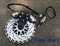 Modify C750J 750cc Motor front and rear brake caliper Disc brake with cab side car case for Bmw R12 R71 chang ural K750 M-72