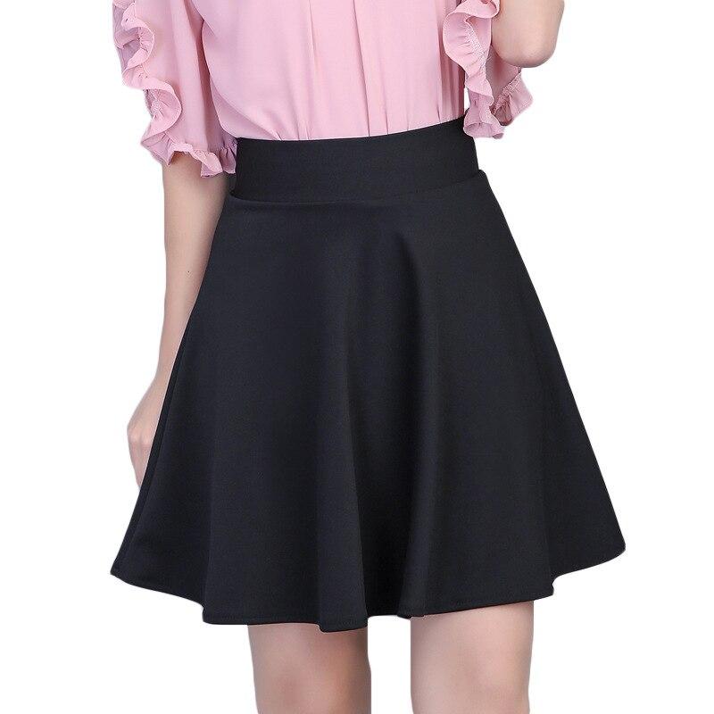 Image 5 - TIGENA Womens Skirt 2019 Summer High Waist Pleated Short Skirt For Women Mini Sun School Tutu Skirt Female Black White Pink Blue-in Skirts from Women's Clothing