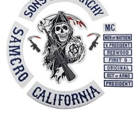 2015 Original Son Of Jacket Back Embroidered Anarchy Patch Motorcycle Biker Club Patch 35CM Full Back