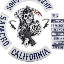US $12.0 29% OFF|2015 Original Son Of Jacket Back Embroidered Anarchy Patch Motorcycle Biker Club Patch 35CM Full Back SOA Patches Brand mc1931 -in Patches from Home & Garden on Aliexpress.com | Alibaba Group