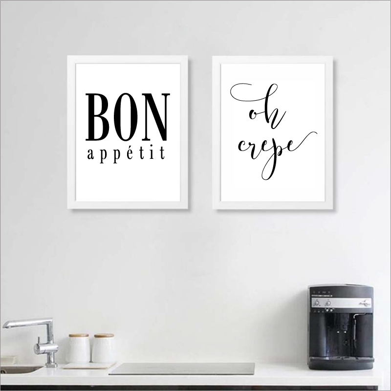 US $2.87 20% OFF|French Kitchen Art Decor Oh Crepe Poster Prints, Bon  Appetit Print French Kitchen Wall Art Canvas Painting-in Painting &  Calligraphy ...