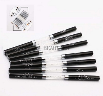 50Pcs/Lot Hight Quality Double Head Nail Art Brush Pen Dual Head UV Gel Nail DIY Lining Painting Manicure Sculpture Tool