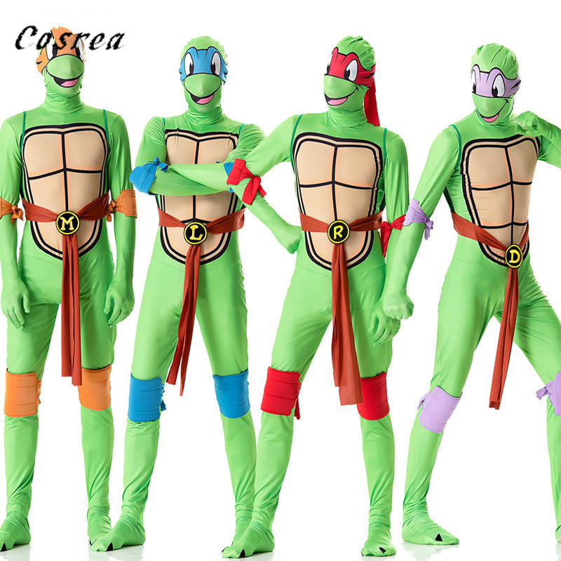 Teenage Mutant Ninja Turtles Cosplay Costume Clothing Suit Men Jumpsuits Halloween Raphae Donatello Clothes For Adult Men Women
