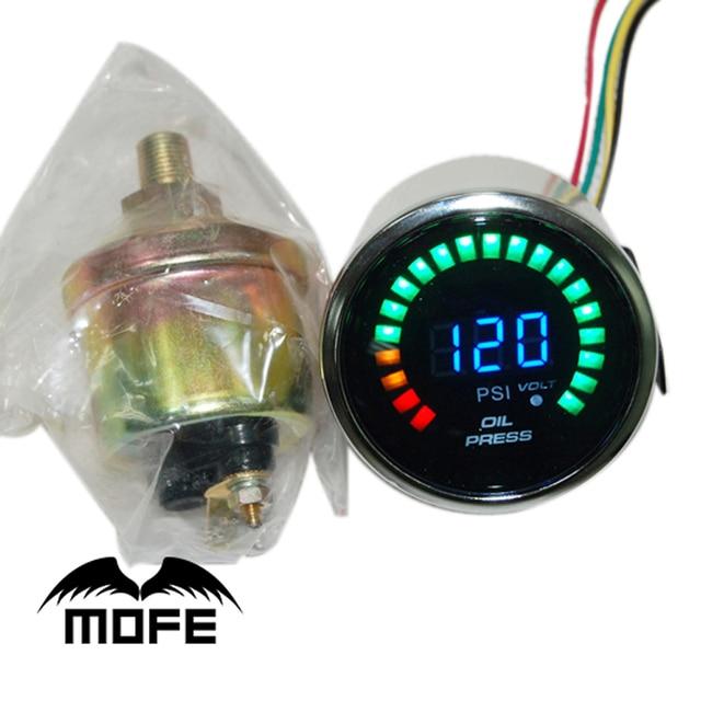 "3PCS Original Logo 52mm 2"" 20PCS Analog LCD PSI Oil Pressure Gauge With Sensor + Stepper Motor"