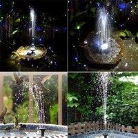 Solar Powered Fountain Water Pump Lamp Sprinkler height 90CM 7V Energy Saving Solar Pumps Lighting For Garden Yard Pond Pool