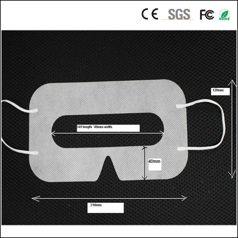 Linhuipad Wholesale 2000pcs Protective VR Hygiene Eye Mask White Sanitary Disposable mask pads for 3D Glasses