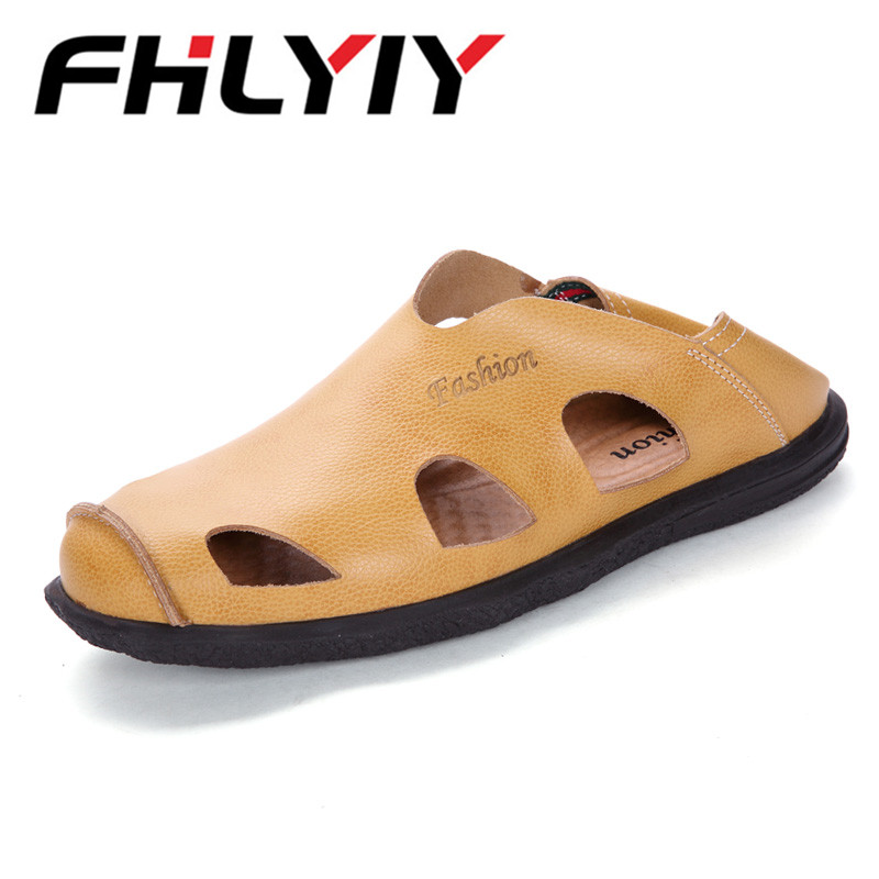 New Style Summer Leather Sandals Men Fashion Casual Shoes Platform Outdoor Beach Sandals For Men Breathable Shoes Zapatos Hombr
