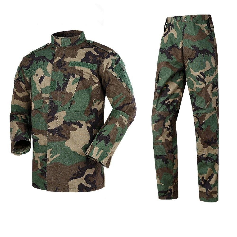 Armée en plein air militaire uniforme Camouflage tactique hommes vêtements Forces spéciales Combat chemise soldat formation vêtements ensemble 13 couleurs