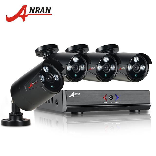 ANRAN 4CH CCTV 1080N AHD HDMI DVR 720P 1800TVL IR Weatherproof Outdoor CCTV Camera Home Security System Video Surveillance Kits