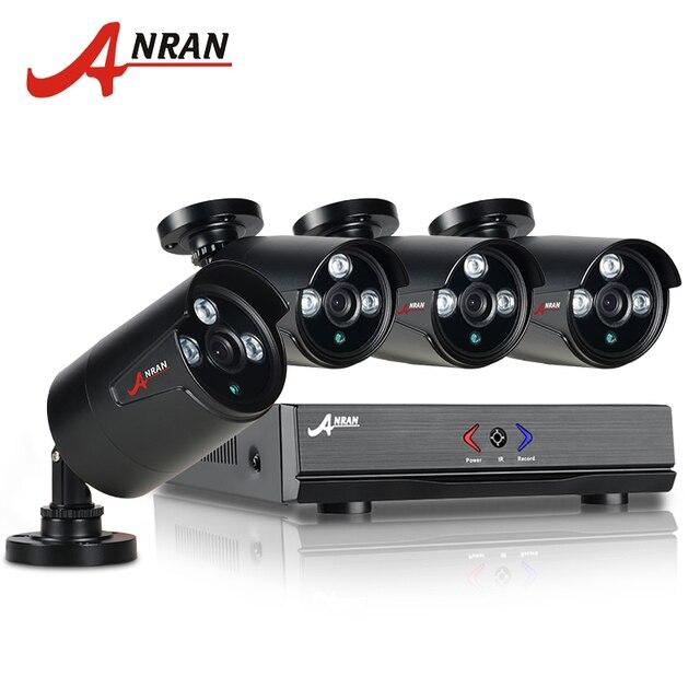 Anran cctv 4ch ahd dvr hdmi 720 p 1800tvl 1080n ir resistente a la intemperie al aire libre sistema de video vigilancia cctv cámara de seguridad inicio kits