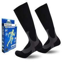 Findcool унисекс поддержка ног стрейч Магия Компрессионные носки производительность спортивные бег