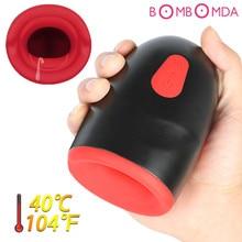 2019 Pussy Sucker Heating Automatic Oral Sex Machine Male Masturbator Cup Glans Vibrator Stamina Trainer Penis ex Toys for Men