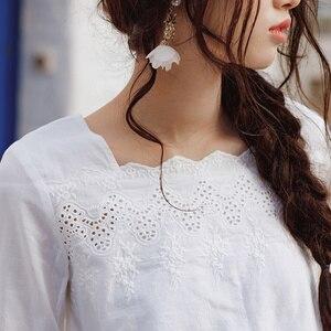Image 4 - INMANฤดูใบไม้ผลิดอกไม้ออกแบบเสื้อผู้หญิงเสื้อผู้หญิงเสื้อผู้หญิง
