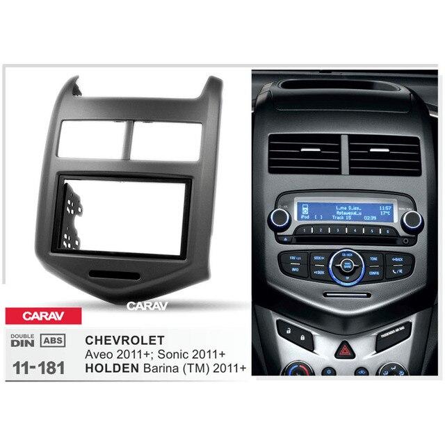 US $29 99 |Radio Fascia for CHEVROLET Aveo Sonic HOLDEN Barina (TM) Double  Din Radio DVD Stereo CD Panel Dash Mount CARAV 11 181-in Universal Car