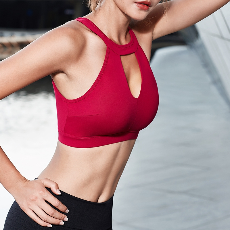 e1271ef19a Oyoo Sexy Red Bralette Women s High Impact Workout Running Padded Support  Underwire Sports Bra -in Sports Bras from Sports   Entertainment on  Aliexpress.com ...