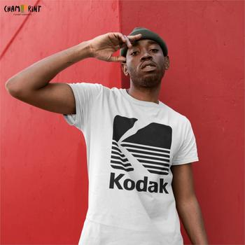 Kodak Photography Logo T-Shirt for Men Camera Film Retro Short Sleeve Vintage Tee Shirt O Neck Cotton Clothes Designs T Shirts