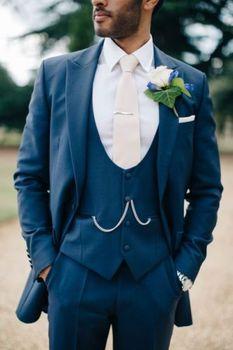 Big Peak Collar Dark Grey Groom Tuxedos High Quality Men Suits For Wedding 2017 Elegant Men Suits Blazer (Cost+Pants+Vest+Tie)