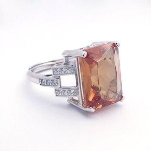 Image 4 - CSJ גדול אבן 13.5CT Zultanite טבעת סטרלינג 925 כסף אוקטובר לחתוך 12*16MM נוצר Sultanite נשים תכשיטים חתונה מסיבת מתנה