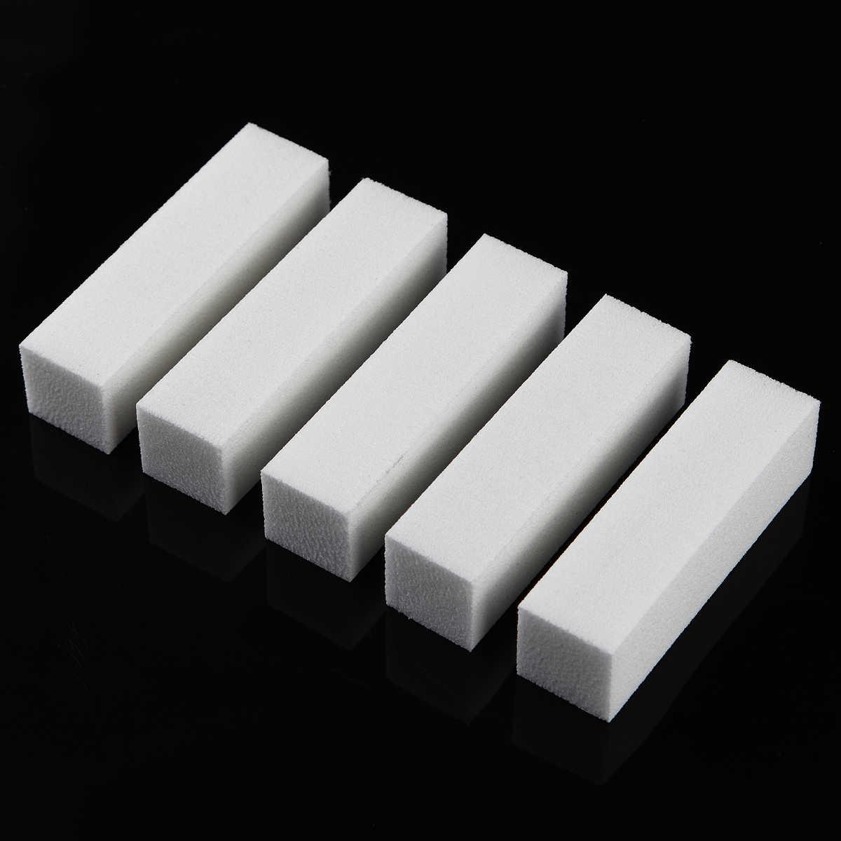 Monja 10 pièces/ensemble blanc Nail Art ponçage éponge bloc tampon ongle meulage polissage ongles limes manucure pédicure outil