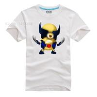 Minions super héroe camiseta 7 colores hombres cómico película Camisas la camiseta del friki
