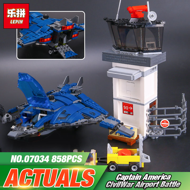 LEPIN 07034 Super Heroes Series The Airport Battle Quinjet Ant-Man Winter Soldier Building Set Blocks Boy Educational Toys 76051 100% new and original fotek photoelectric switch a3g 2mr free power photo sensor