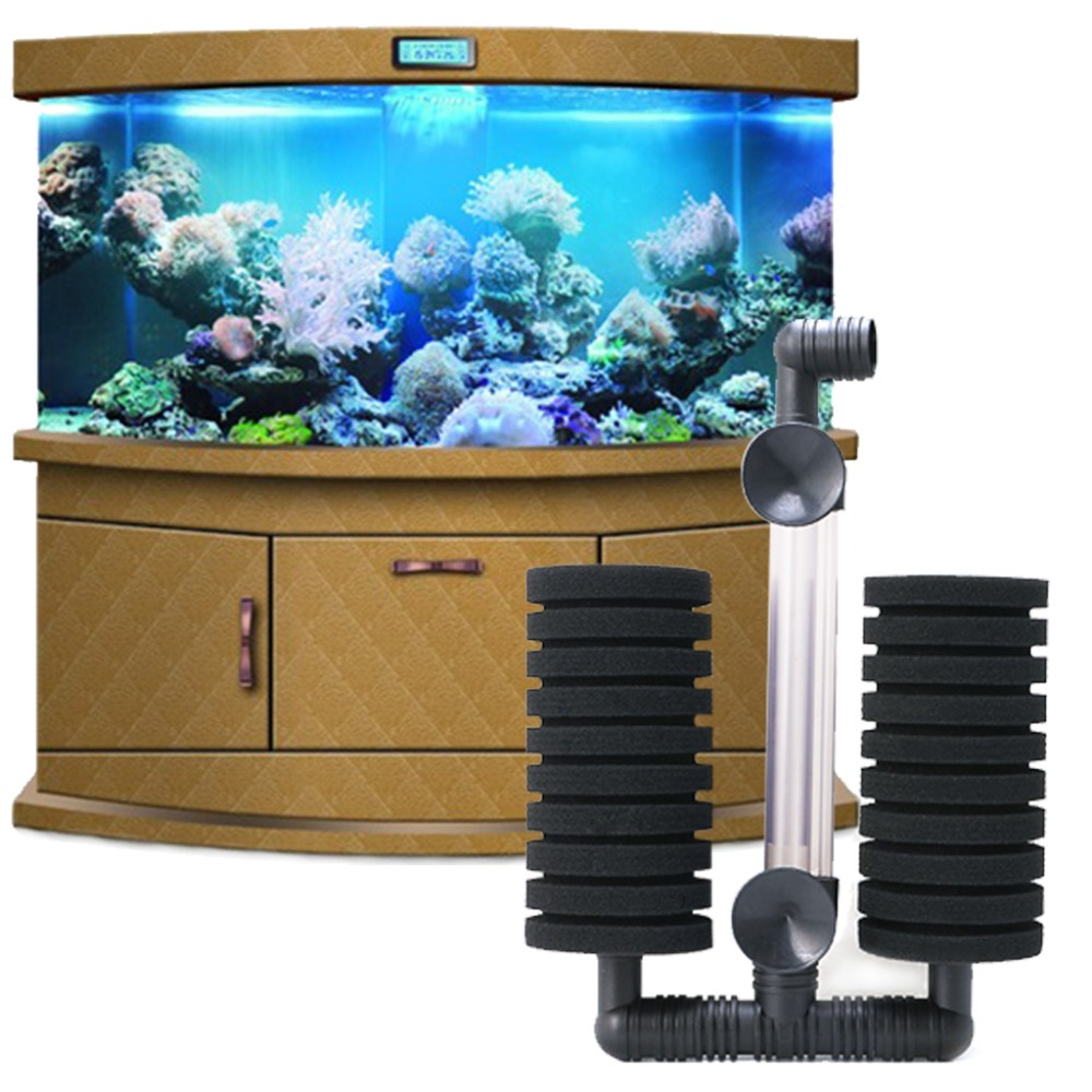 Aquarium fish tank air pump biochemical sponge filter - Let S Pet Aquarium Sponge Filter Biochemical Shrimp Fish Tank Air Pump Double Head New China