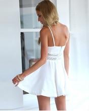 White Black Vestidos Summer Fashion Women Sexy Strap V Neck Crochet Lace Waist Skater Dress Casual Party Mini Short Dresses