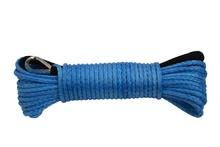 Blue 50ft 1 4 font b ATV b font UTV Winch Line Synthetic Rope with Thimble