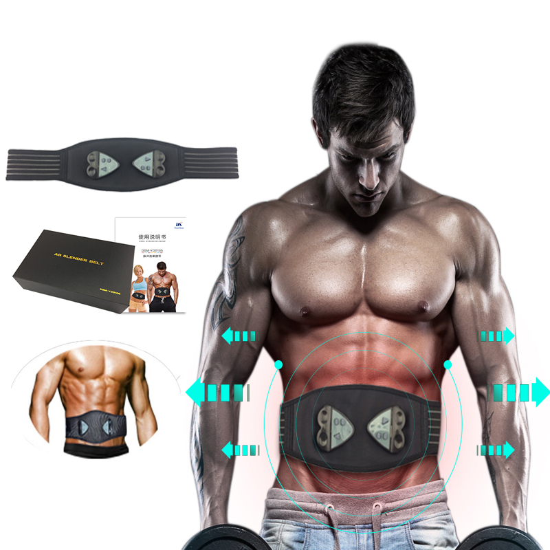 Ems muscle stimulator massage belt body slimming Fitness Exercise Abdominal Muscle Trainer ems trainer belt simulator back waist muscle simulator electric slimming belt back massage belt acupuncture waist trainer