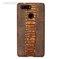 Low Key Luxury Genuine Leather Phone Case For Nubia Z17s Csae Ostrich Foot Texture Back Cover