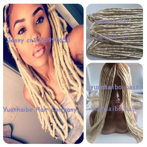 Stock super quality 20 fold blond color synthetic dreadlocks stock super quality 20 fold blond color synthetic dreadlocks hair extension for black women pmusecretfo Choice Image