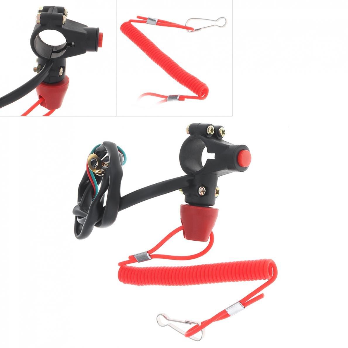 plastico universal 22mm motocicleta de emergencia energia fora dupla flameout trainer interruptor para ligacao atv 49