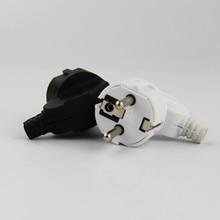 5PCS Eu AC Power Adapter Socket 16A 250V Connector Cable Electrical Plug White Black Male Converter Adaptor Detachable Plug цена
